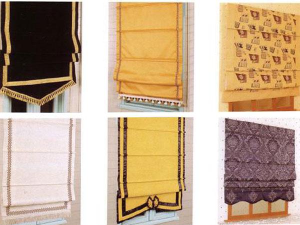 римские шторы с рамкой